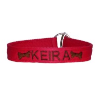 "Personalised Embroidered Dog Choker 3/4"" Wide"