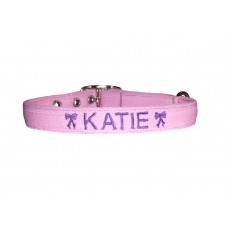 "Personalised Embroidered Dog Collar - 3/4"" Wide"