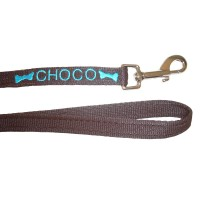 "Personalised Embroidered Dog Lead - 3/4"" Wide"
