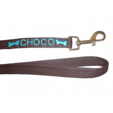 """Personalised Embroidered Dog Lead - 3/4"""" Wide"""