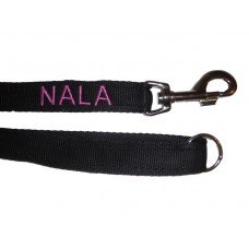 "Personalised Embroidered Training Dog Lead - 1"" Wide"