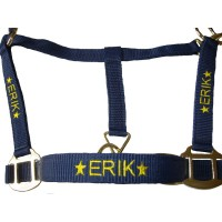 Personalised Embroidered  Padded Headcollar Full Size