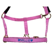 Personalised Embroidered Padded Headcollar Pony Size
