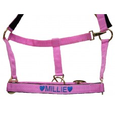 Personalised Embroidered Headcollar Pony Size