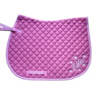 Personalised Embroidered Pony Saddle Cloth