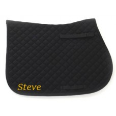 Personalised Embroidered Showjump Saddle Cloth Cob Size