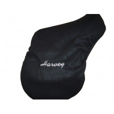 Personalised Embroidered Fleece Saddle Cover - Cob Size